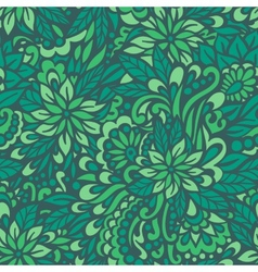Green meadow Seamless decorative pattern vector