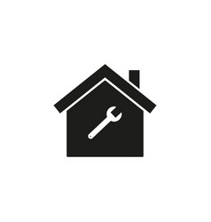 home with wrench icon vector image