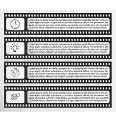 Infographic filmstrip vector