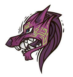 jackals head vector image