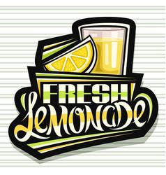 Label for fresh lemonade vector