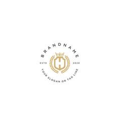 Letter h luxury logo design vector