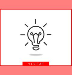 light bulb icon llightbulb idea logo concept vector image