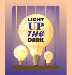 Light bulb typography poster vector