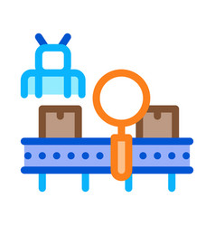 Manufacturing defect search icon outline vector