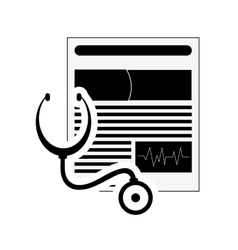 Medical history and stethoscope icon vector