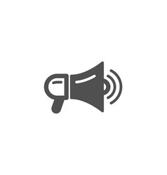Megaphone simple icon advertisement device sign vector