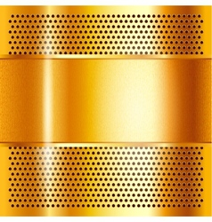 Metal sheet gold vector