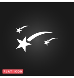 Meteor flat icon vector image