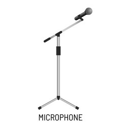 microphone isolated object music recording studio vector image