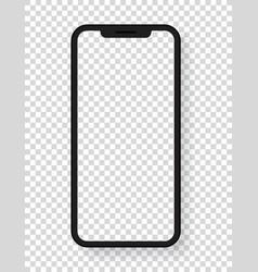 modern mobile phone layered template isolated vector image