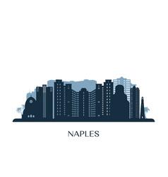 Naples usa skyline monochrome silhouette vector