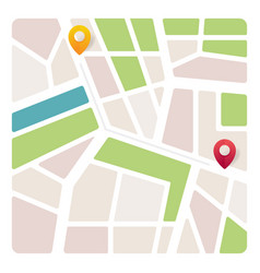 navigation map with pin pointer vector image