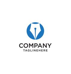 pen icon logo pictogram button vector image