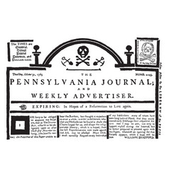 Pennsylvania journal vintage vector
