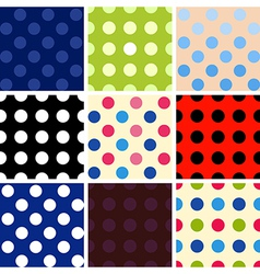 Polka dot background set vector