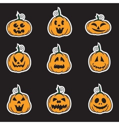 pumpkins sticker vector image