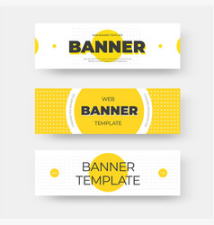 rectangular horizontal web banner template vector image