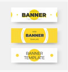 Rectangular horizontal web banner template with vector