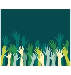 Rising hands vector