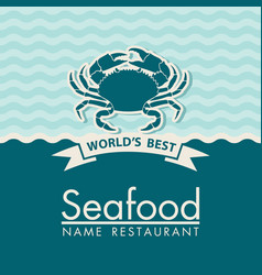 seafood menu design vector image