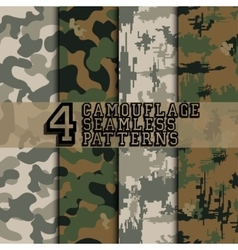 set camouflages vector image