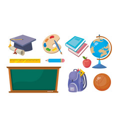 set education elementary creative to learn vector image