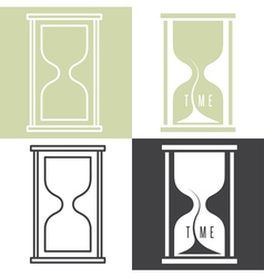 Set of concept with sandglass vector