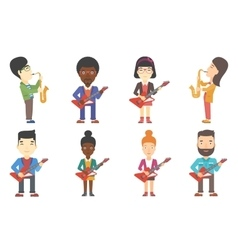 set of musicians characters vector image