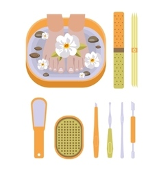 set of pedicure tool vector image