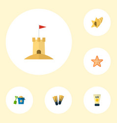 set of season icons flat style symbols with pail vector image