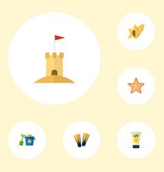 Set season icons flat style symbols with pail vector