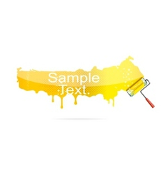shiny brush tool yellow color isolated vector image