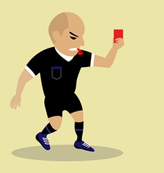 Soccer referee giving red card vector