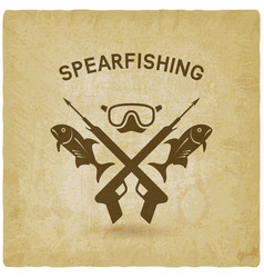 Spearfishing club concept design underwater vector