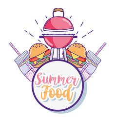 summer food cartoons vector image