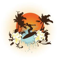 Surfing background vector