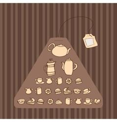 Teabag vector