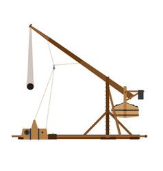 trebuchet catapult war medieval siege weapon wood vector image