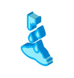 Water broke isometric icon vector
