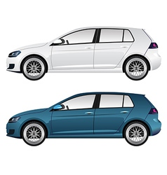 White and Blue Car vector image