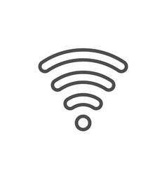 Wi-fi signal line outline icon vector