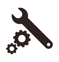 Wrench and gears icon vector