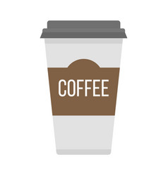 coffe cup take away vector image