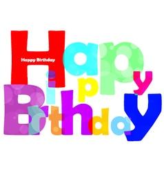 Happy birthday text vector