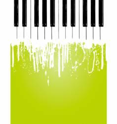 piano flow vector image vector image