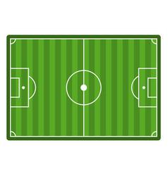 soccer field top view empty football stadium vector image