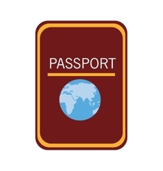 colorful passport adn world map graphic vector image