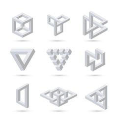 Geometric optical symbols vector