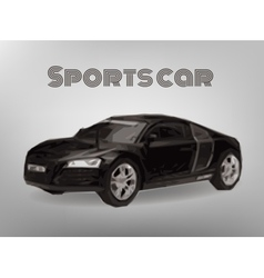 Sports car front view The image of a sports back vector image